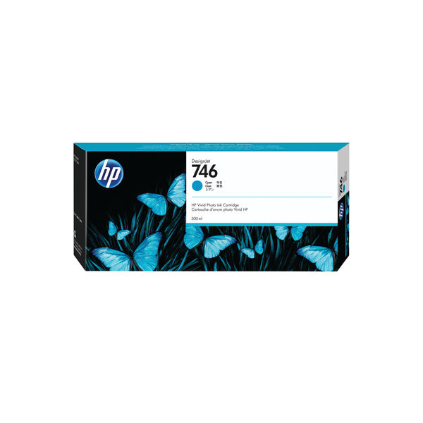 HP 746 300ml Cyan Ink Cartridge P2V80A