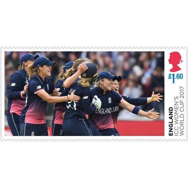 The England ICC Women's World Cup 2017 Winners Miniature Sheet