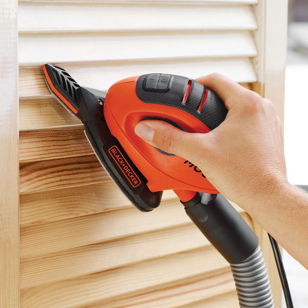 Black And Decker Mouse Sander with 6 Sanding Sheets 55W BEW230-GB