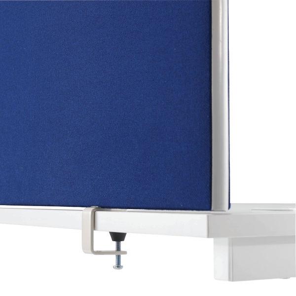 Jemini 1200mm Blue Straight Mounted Desk Screen