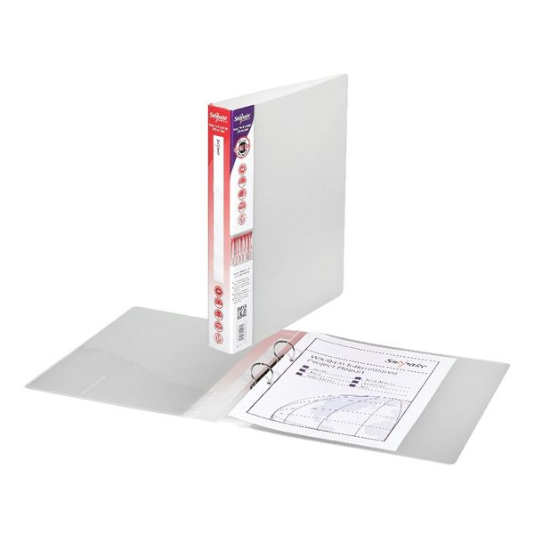 Snopake Executive Presentation A4 Clear 2 O-Ring Binder, 25mm - 13371