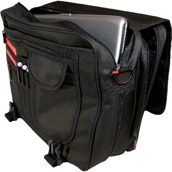 Monolith Microfibre Soft Sided Black Briefcase - 3192