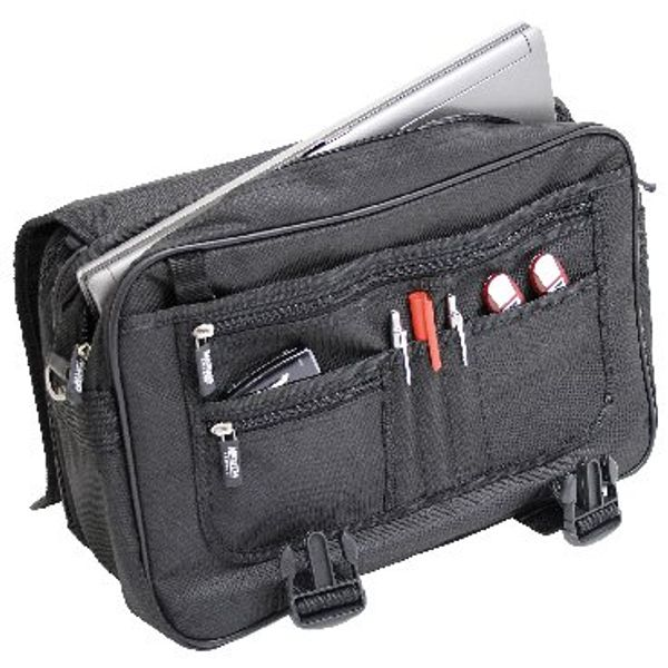 Monolith Expandable Black Briefcase - HM29330