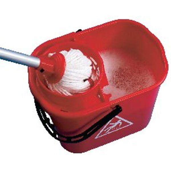2Work Plastic Mop Wringer Bucket 15 Litre Blue - 102946