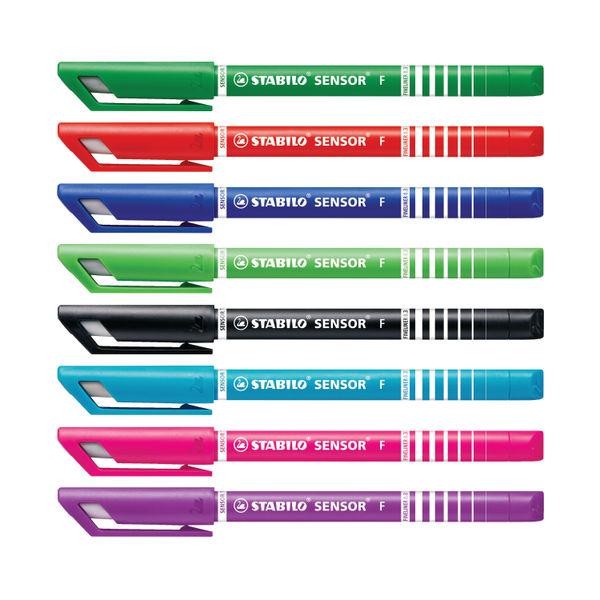 STABILO Assorted Sensor Fineliner Pens, Pack of 8 - 189/8
