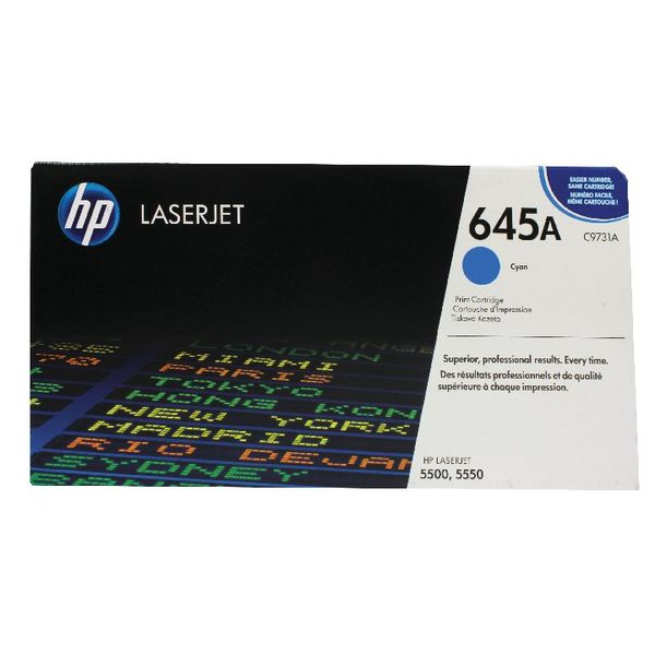 HP 645A Cyan LaserJet Toner Cartridge | C9731A