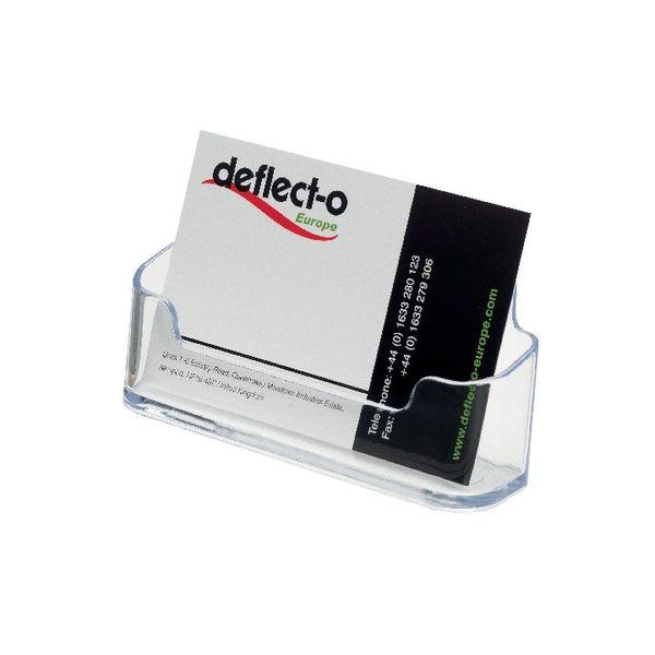 Deflecto Single Desktop Business Card Holder | DE70101