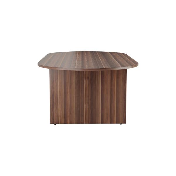 Jemini 2400mm Dark Walnut Meeting Table