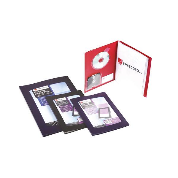 Rexel Clearview A4 Black Display Book (12 Pocket) - 10300BK