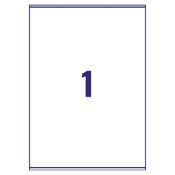 Avery Laser Address Labels 199.6 x 289.1mm, Pack of 100 - L7167-100