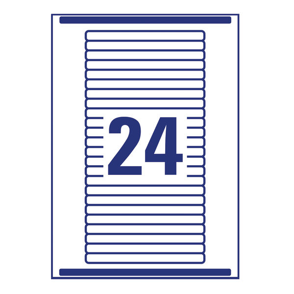 Avery Eurofolio Filing Labels, 134 x 11mm, White (Pack of 600) - L7170-25