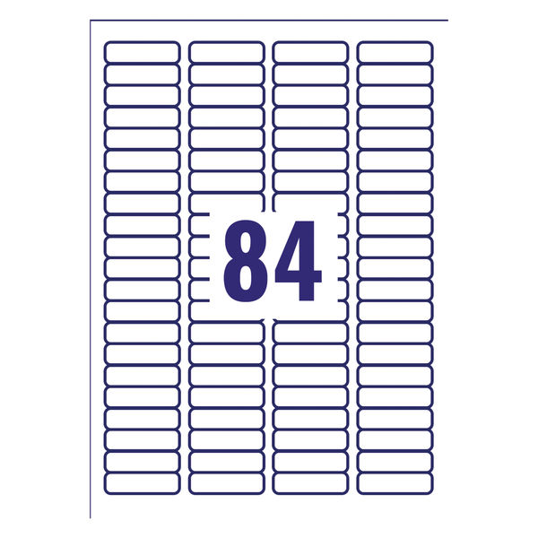 Avery Laser Labels 46x11.11mm 84 Per Sheet White(Pack of 2100)L7656-25