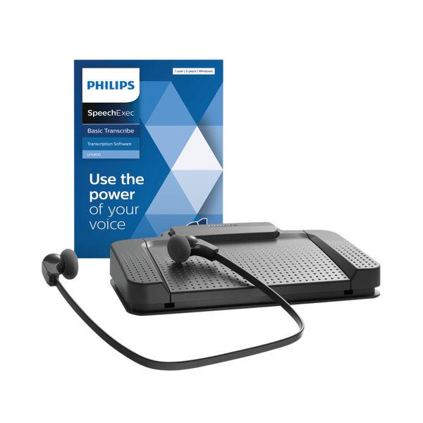 Philips Black SpeechExec Digital Transcription Set LFH7177