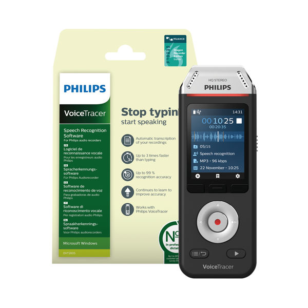 Philips Recorder and Speech Recognition Set DVT2810