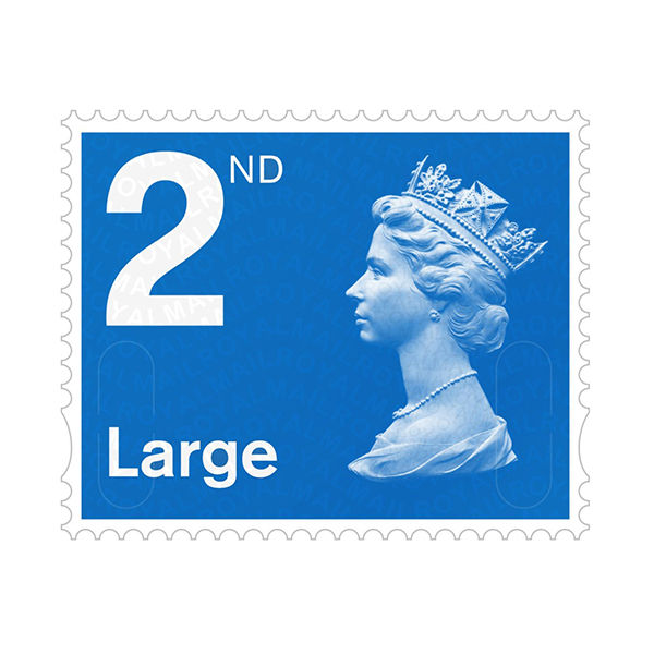 2nd Class Large Stamps x 50 Pack - (Self Adhesive Stamp Sheet)