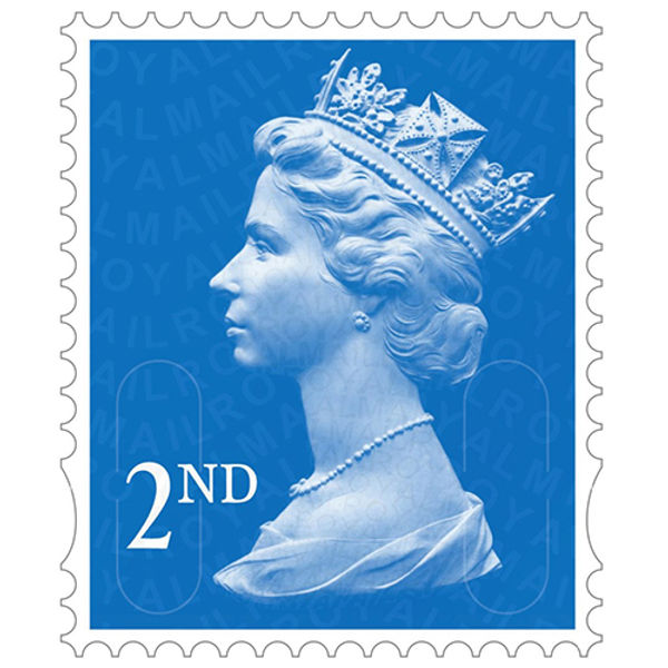 2nd Class Postage Stamps, Sheet of 100 - SDN2