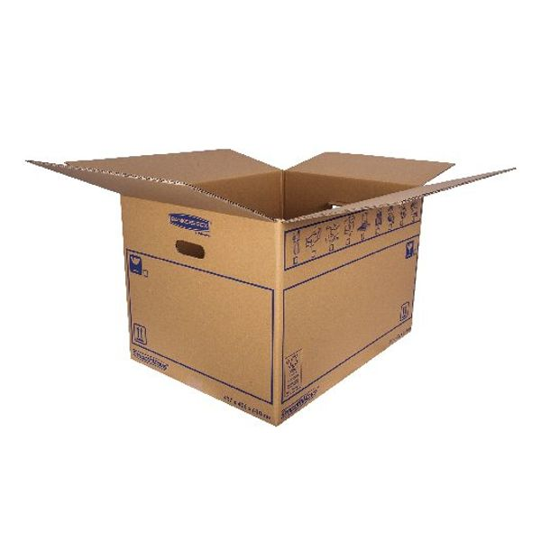 Bankers Box SmoothMove 460 x 410 x 610mm Brown Standard Moving Boxes, Pack of 10 - 6207501