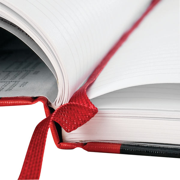 Black n Red Ruled Casebound Hardback Notebook A4 100080473