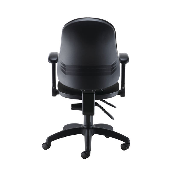 Jemini Intro High Back Posture Chair Folding Arms in Black