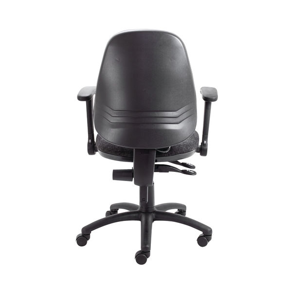 Jemini Intro High Back Posture Chair Folding Arms in Charcoal