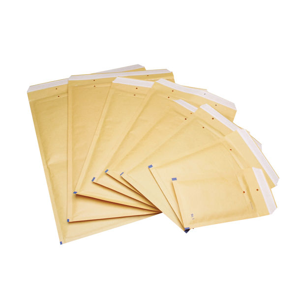 Go Secure Size 1 Bubble Lined Envelopes, Pack of 100 - ML10038