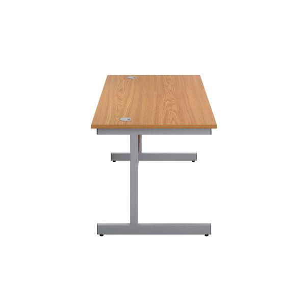 First 1200mm Nova Oak/Silver Single Rectangular Desk