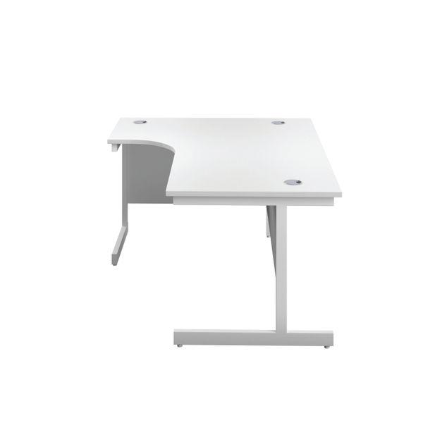 First 1800mm White/White Left Hand Radial Desk