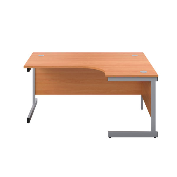 First 1600mm Beech/Silver Right Hand Radial Desk