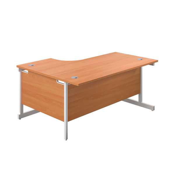 First 1600mm Beech/White Right Hand Radial Desk