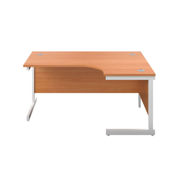First 1800mm Beech/White Right Hand Radial Desk