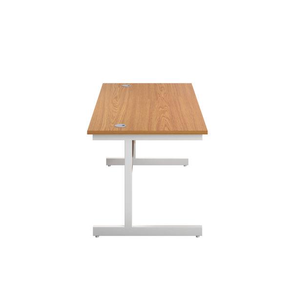 First 1200mm Nova Oak/White Single Rectangular Desk