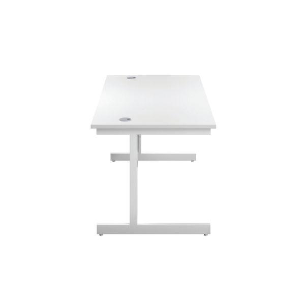First 1200mm White/White Single Rectangular Desk