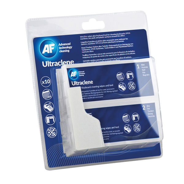 AF Ultra Clene Duo Wet/Dry Keyboard Wipes AULT010