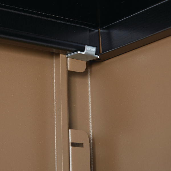 Jemini 1950mm Coffee/Cream 2 Door Storage Cupboard