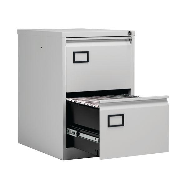 Jemini 711mm Light Grey 2 Drawer Filing Cabinet