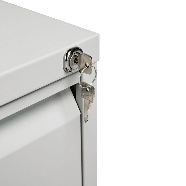 Jemini 1016mm Light Grey 3 Drawer Filing Cabinet