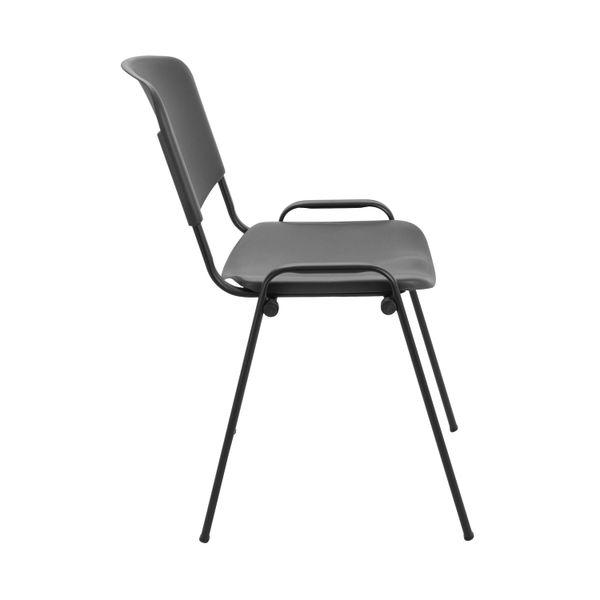 Jemini Charcoal Polypropylene Multipurpose Stacking Chair