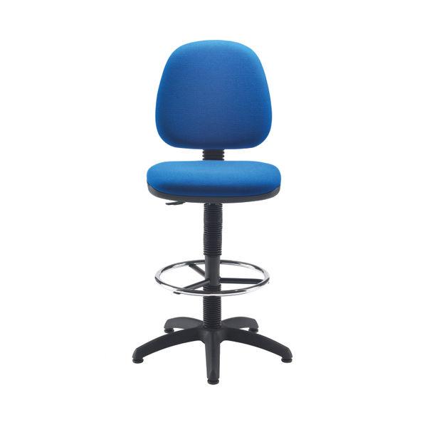 Jemini Blue Medium Back Draughtsman Chair