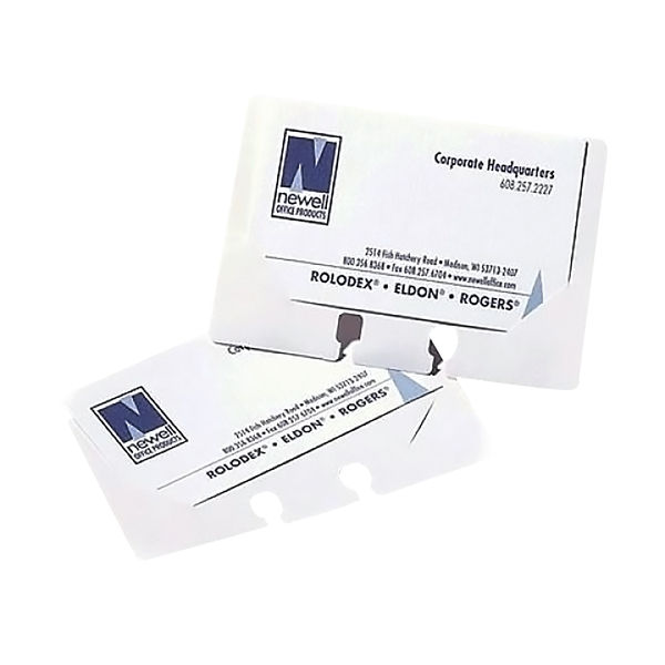 Rolodex Business Card Sleeves Clear (Pack of 40) S0793540