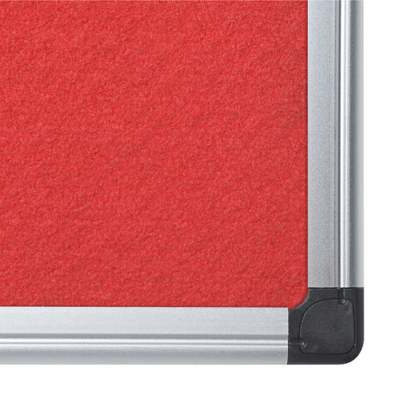 Bi-Office Red 1200 x 900mm Aluminium Felt Noticeboard - FA0546170
