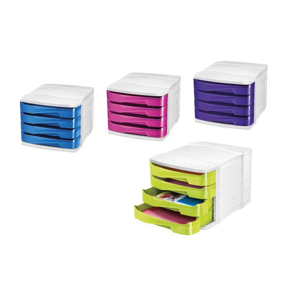 CEP Pro Purple Gloss 4 Drawer Set | 394BI G PURPLE