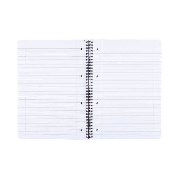 Staples Ruled Wirebound Notebook 140 Pages A4+ 70gsm Black 400110420