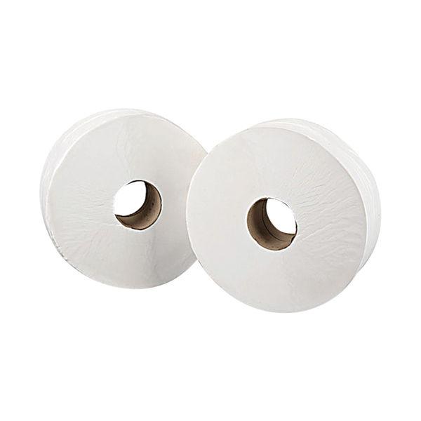 2Work White 2-Ply Jumbo Toilet Rolls, Pack of 6 - J26400VW