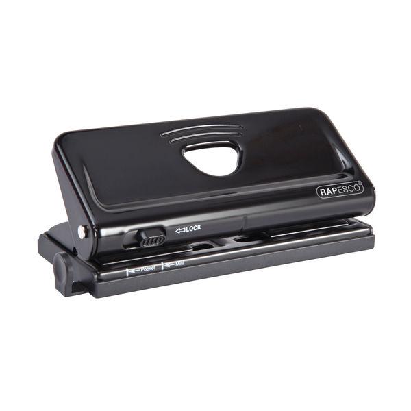 Rapesco 66P 6 Hole Punch Adjustable Black OEM: 66-P