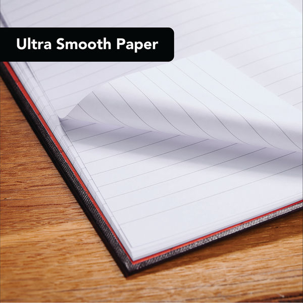 Black n' Red A4 Hardback Casebound Notebooks, Pack of 5 + 2 FREE - 400116295