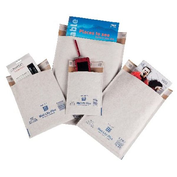 Mail Lite Plus C/0 150 x 210mm Bubble Lined Postal Bags, Pack of 100 - MLPC/0