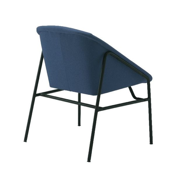 Jemini Bistro Navy Reception Armchair