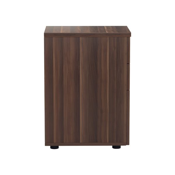 Jemini 690mm Walnut 3 Drawer Tall Mobile Pedestal