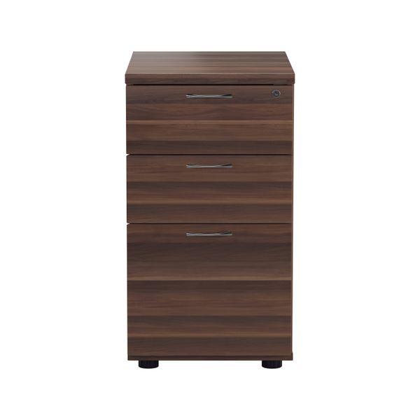 Jemini D600mm Walnut 3 Drawer Desk High Pedestal