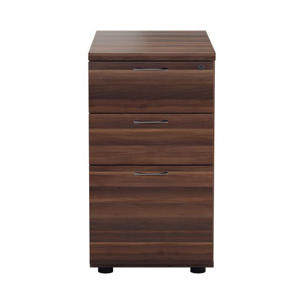 Jemini D800mm Walnut 3 Drawer Desk High Pedestal